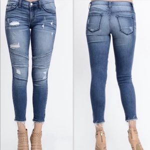 KanCan Distressed Moto Jeans